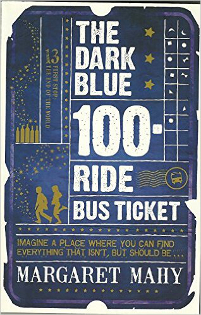 The Dark Blue 100 Ride Bus Ticket book cover